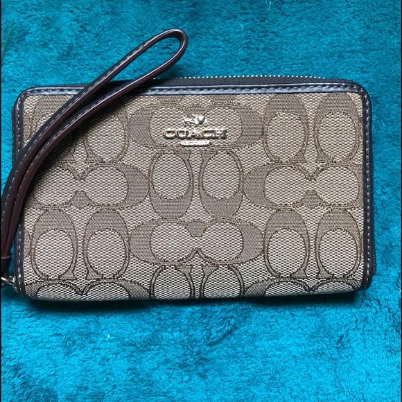 Coach Handbags - Coach zip around wristlet wallet